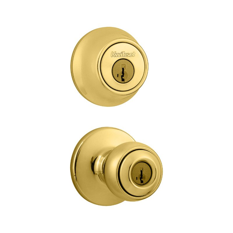 Kwikset - 690P 3 - Polo Combo Pack - Polished Brass