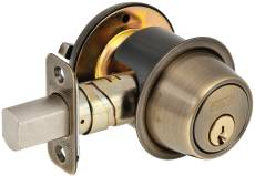 SCHLAGE - B560P609  - BC500 SINGLE CYLINDER DEADBOLT ADJ BS SC1 ANT BRASS