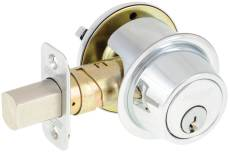 SCHLAGE - B560P625 -  BC500 SINGLE CYLINDER DEADBOLT ADJ BS SC1 BRIGHT CHROME